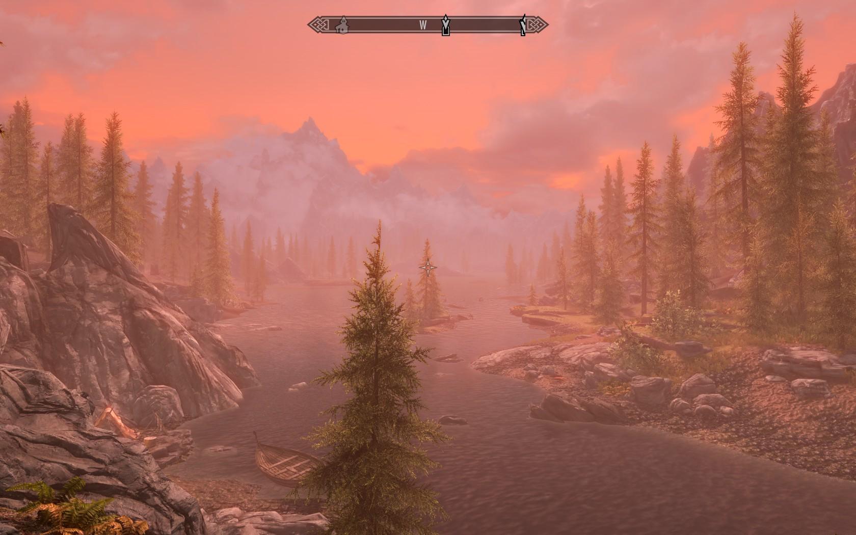 Sunset Skyrim Special Edition